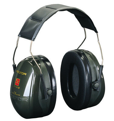 3M Peltor Optime II Ear Defenders Headband SNR31db Black Ear Protection Muffs