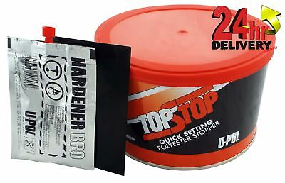 U-Pol Top Stop Car Body Filler Smooth Quick Stopper Finishing Repair 750ml Upol