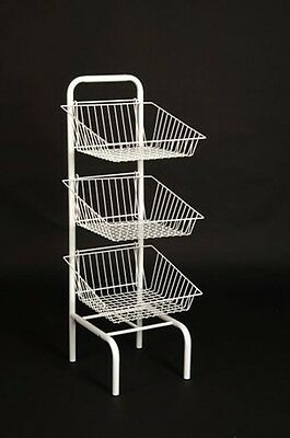 New 3 Tier Basket Unit Retail Shop Display Stand