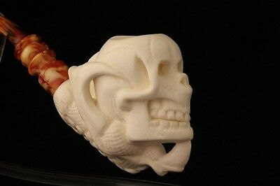 SKULL ina CLAW Meerschaum Pipe by E. CEVHER 1750 W/CASE