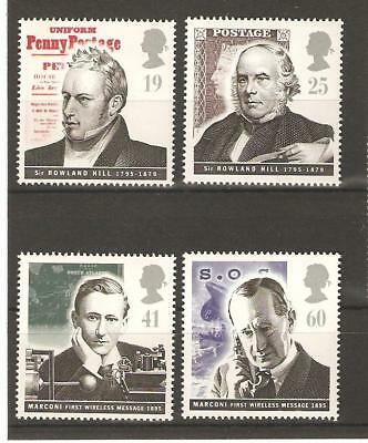 Pioneers Of Communications -1995 Unmounted Mint Set