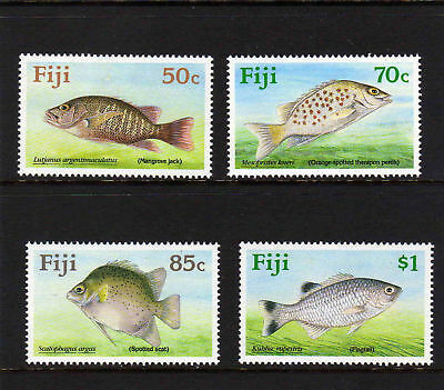 Fiji 1990 Freshwater Fishes Set Sg 806-809 Mnh.