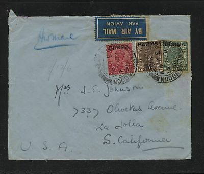 Burma  early cover  to US