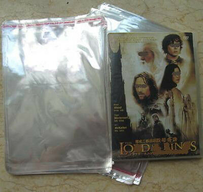 1000 DVD Case/Box Cello Plastic Sleeves Wrap Bags