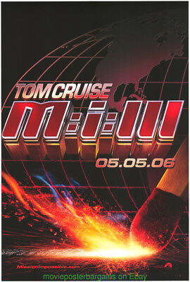 Mission Impossible Iii Movie Poster Ds Adv.tom Cruise