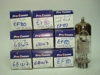Ef80 Tube. 6Bw7 Tube. Mixed Brands. Used. Ru1-U5