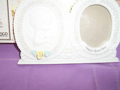 Precious Moments,Christening Baby Photo Frame 1995 New