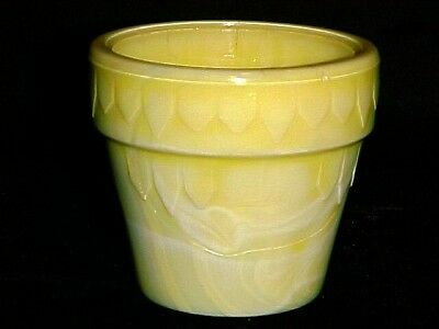 Rare Akro Agate Small Yellow & Gray Banded Dart Pot