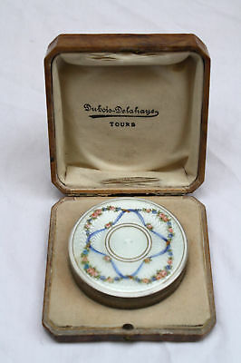 Magnificetnt French Art Nouveau Sterling  Silver Enameled Box