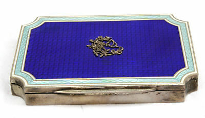 Magnificent 1900's German 800 Enamel Silver Box