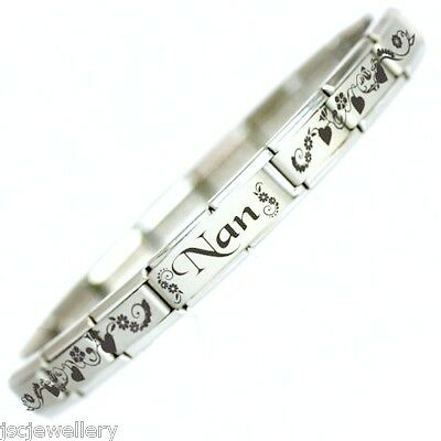 NAN - Personalised Italian Charm Bracelet Mothers Day - Fits Nomination Classic