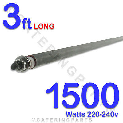 """HE3615 36"""" / 3ft LONG 1500w 1.5 kw ROD HEATING ELEMENT 8mm DIA BEND TO SHAPE"""