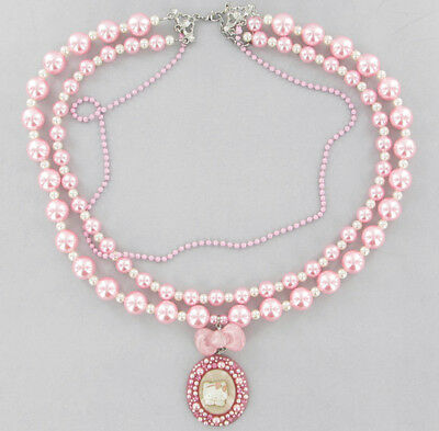 COLLANA HELLO KITTY RIBBON CAMEO PINK - 30 %