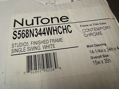 Broan NuTone S56 S568N344WH Medicine Cabinet w/Mirror - NEW