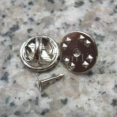 25 X TIE Tacks Findings Pins & Round Pinch Silver PC1