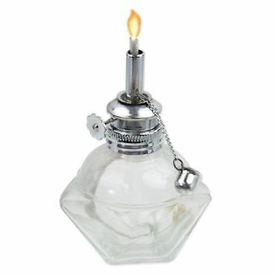 "Alcohol Lamp/burner Glass Octagonal 1/4"" Wick Adj Flame"