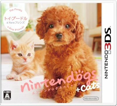 NEW 3DS Nintendogs + Cats Toy Poodle & New Friends JP