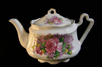 Arthur Wood & Son Pink Roses And Lilacs Teapot 6546