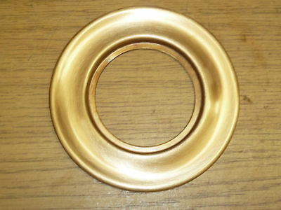 "VINTAGE DOOR ESCUTCHEON 3-13/16"" ROUND fin: BRONZE"