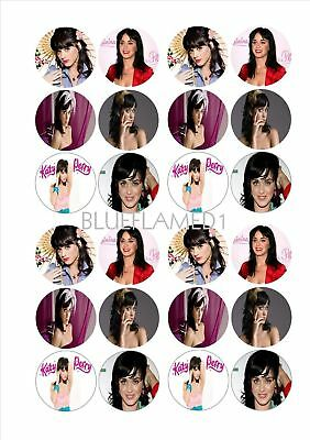 Katy Perry Rice Paper Fairy Cake Bun Toppers