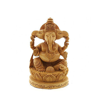 statue de ganesh elephant en bois 100 artisanat inde art ethnique 7465 eur 329 99 picclick fr. Black Bedroom Furniture Sets. Home Design Ideas