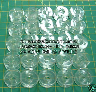 55 Empty Plastic Bobbins for Janome and brother Sewing embroidery Machines NEW