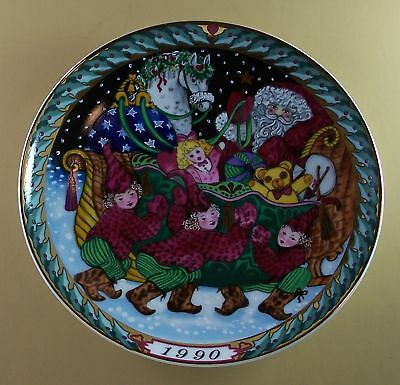 SANTA CLAUS COLLECTION Plate 1990 B & G Christmas