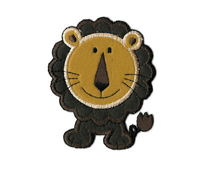 """Lion - Wild Animal - Safari - Two Toned Felt/ Embroidered 3.5""""H Iron On Patch"""