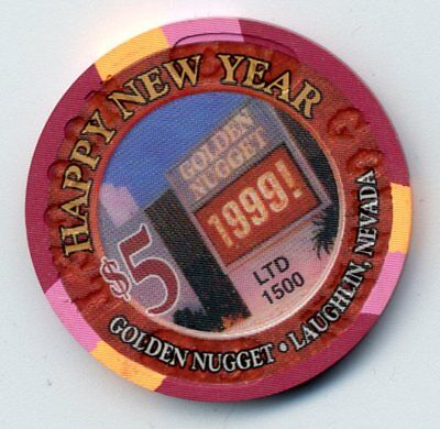 Golden Nugget 1999 New Year  Laughlin  Casino $5 Chip