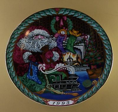 SANTA CLAUS COLLECTION Plate 1993 B & G Christmas