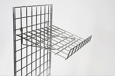 New Grid Wall Mesh Shop Display Panel Slanting Shelf