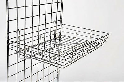 New Heavy Duty Gridwall Mesh Shop Display Panel Basket