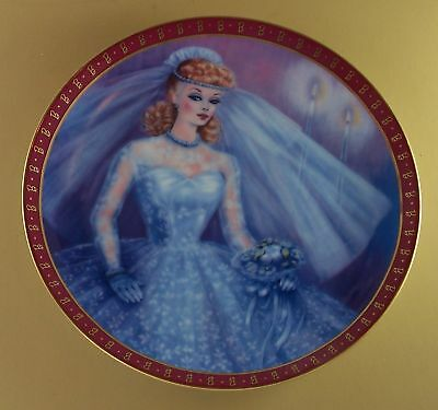 1959 Bride-To-Be HIGH FASHION BARBIE Plate MIB Lovely