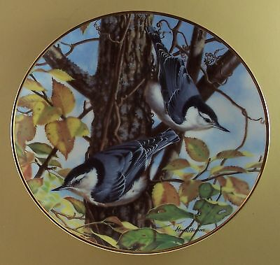 NUTHATCH Plate FALL'S SERENADE A Garden Song Lovely!