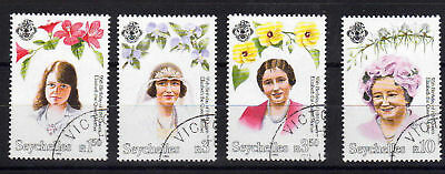 Seychelles 1995 Queen Mother Set Sg 852-855 Fine Used.