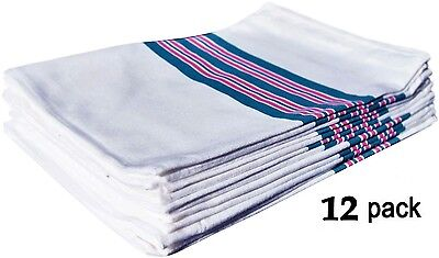 12 New Baby Infant Receiving Swaddling Hospital Blankets Large 30''x40'' Striped