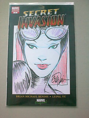 catwoman original sketch /signed remarked by bill tucci ,unique comic