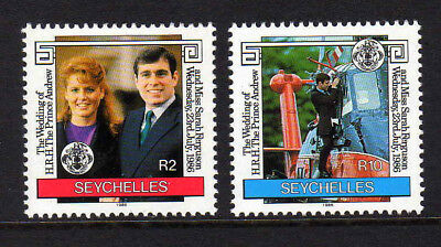 Seychelles 1986 Wedding Set Sg 651-652 Mnh.