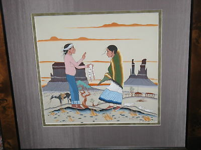 Jerry Lee / Hosteen Nez Original Painting /native American