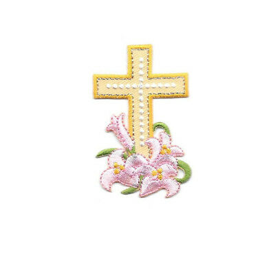 Ministry Embroidered Iron On Patch Holy Trinity Cross Holy Spirit Church