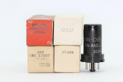 12Sg7 Tube. Vt209  Tube. Mixed Brand Tube. Nos/nib. Rc104.