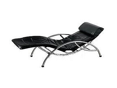 Chrome Black Relaxation Rocking Large Reclined Chair