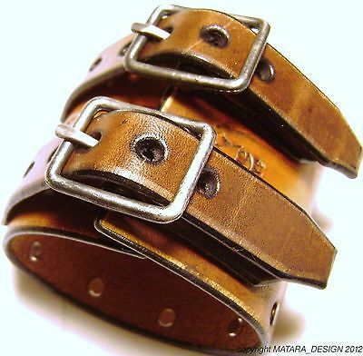 Leather Watch Cuff Johnny Depp Vintage style Bracelet