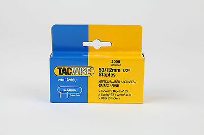 12mm Tacwise Staples type 53   upholstery supplies