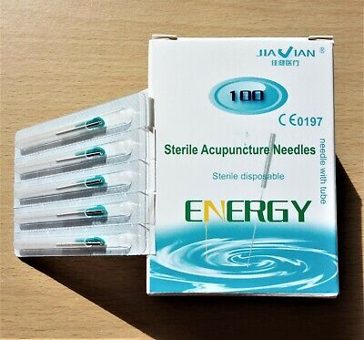 1pk Acupuncture Needles Super Quality with Guide Tubes 0.22x25mm 100/pack