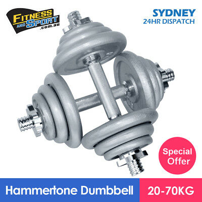20Kg Weight Adjustable Hammertone Dumbbell Set With Case Iron Home Gym Equipment