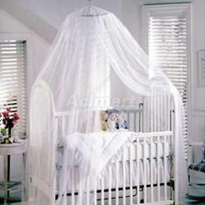 Baby Bed/Cot/Crib White Mosquito Net Curtain Canopy NEW