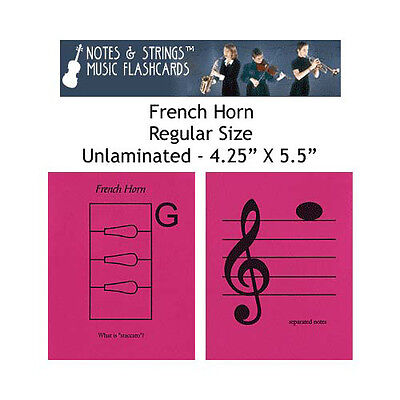 """French Horn 4.25""""x5.5"""" Music Flashcards by N&S"""