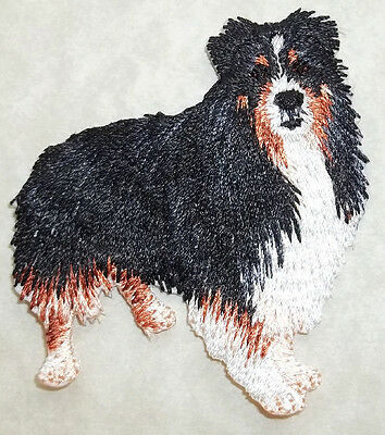 FARM SHEEP DOG FULLY EMBROIDERED IRON ON APPLIQUE