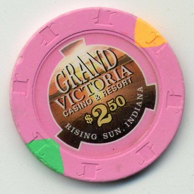 Harrah's Grand Victoria In  Casino $2.50  Casino  Chip